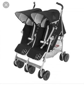 Maclaren Twin Techno Stroller/Buggy