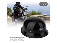 GERMAN STYLE VINTAGE CRUISER MOTORCYCLE HELMET (DOT) APPROVED SMALL MED AND LARGE £39.99