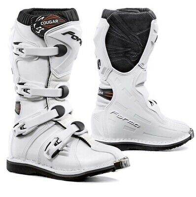 FORMA Cougar Motorcycle MX Boots Kids Size 32 White , Motorcross Enduro Mx
