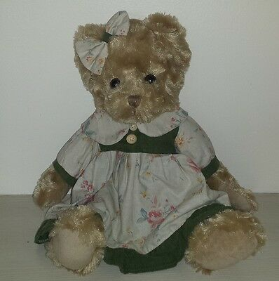 "Job Lot - 10  14"" Dressed Vanity Fair Sitting Teddy Bears"