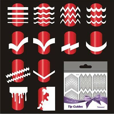 5 sheet French Manicure Nail Art Tips Form Guide Sticker Polish DIY Stencil Tool