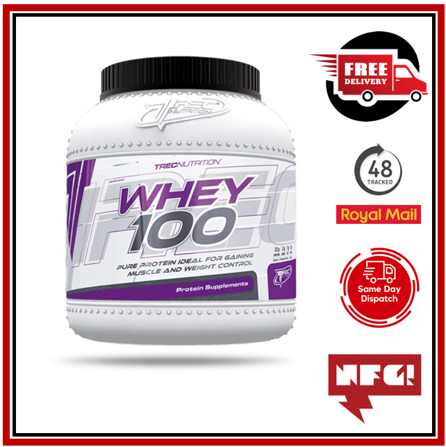 TREC NUTRITION WHEY 100 1500G MUSCLE MASS WEIGHT GAINER HIGH QUALITY PROTEIN eBay