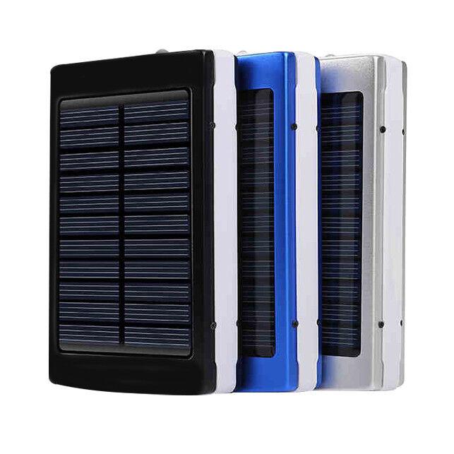 30000mah dual usb solar external power bank