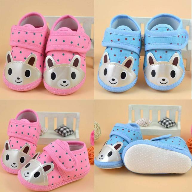 Newborn Baby Girl Boy Soft Sole Crib Toddler Shoes Canvas Sn