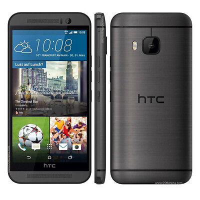 "Gray Smartphone HTC One M9 AT&T GSM 4G LTE UNLOCKED 5.0"" Android Stall Phones"