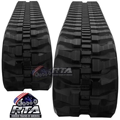 Two Rubber Tracks For Takeuchi Tb145 Tb045 Tb250 Tb053 400x72.5x74 Free Shipping