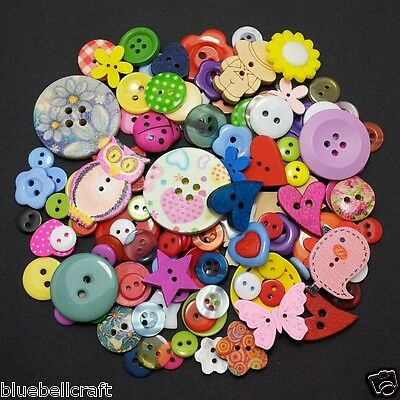 HALF KG 1500++ MIXED BUTTONS - WOOD & RESIN - CRAFT - SCRAPBOOK - SEWING - CARDS