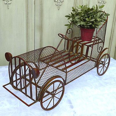 Blumenständer 70cm Oldtimer Auto Puppenwagen 0951347-b