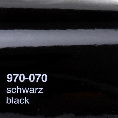 (13,13€/m²) Oracal 970RA Schwarz Glanz 070 Autofolie gegossen Luftkanal Folie