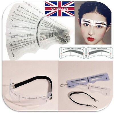 Brow Shaper Kit (12PCS Eye Brow Shaper Makeup Template Eyebrow  Shaping Stencil Kit DIY C054)
