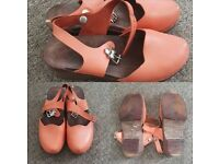 coral wooden clogs for sale
