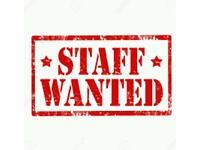 Staff wanted for takeaway