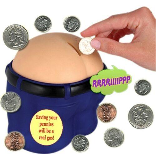 Farting money box piggy bank sounds saving bum novelty funny gift new coins fun - Farting piggy bank ...