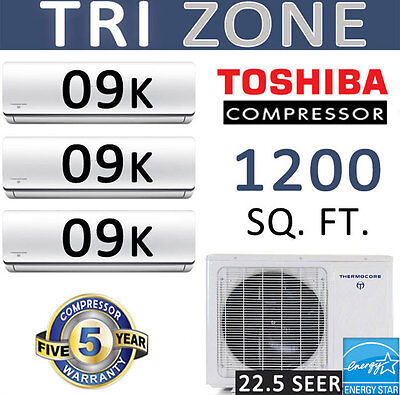 Thermocore T322D-H236 9 22 Seer Tri Zone Ductless Mini Split