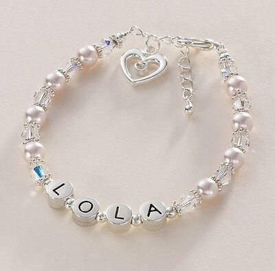 Geschenke für Brautjungfer, Blumen Mädchen, personalisiert Name Armband, viele