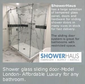 Sliding glass shower doors, Shower enclosure, $ 779.00 Frameless