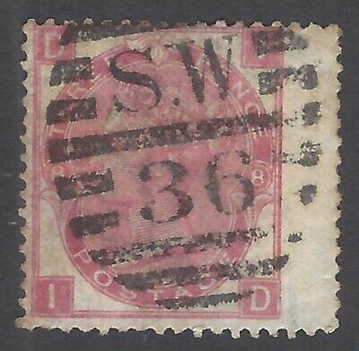 GB QV 1867-80 3d rose plate 8 used SG 103 £60