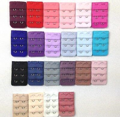 10 Colors Bra Extender Strap Extension 2 Hooks Supplies Repl
