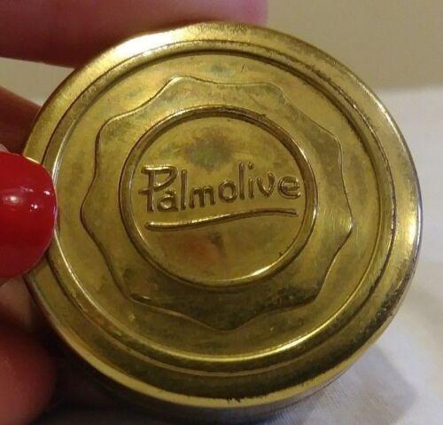 Rare Vintage Gold Palmolive Compact Rouge c 1923, Palmolive Branded Vanity Case
