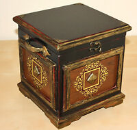 Three Rustic Wooden Treasure Boxes/ Trunks/ Pirate Chests