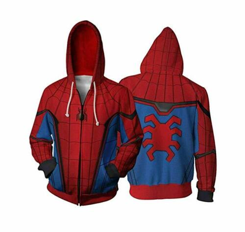Spider Man Far From Home Peter Parker Spiderman Jacket Costume Hoodie Sweatshirt