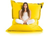 Giant yellow garden bean bag used once