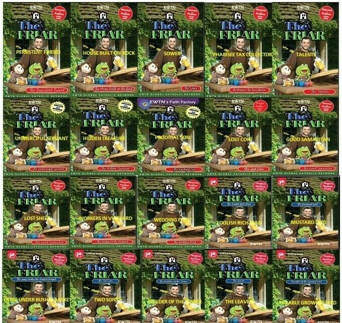 Details about THE FRIAR: THE COMPLETE 20 DVD CHILDREN SERIES ON MEANING OF  PARABLES FROM EWTN