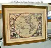 A John Tallis Map of the Western Hemisphere:  London 1850