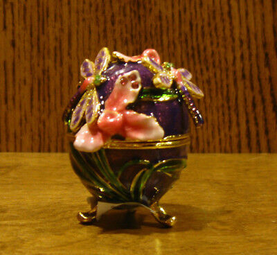 Dragonfly Store (Jeweled Trinket Box J3336 DRAGONFLY EGG, NEW/Box From Retail Store, Welforth)