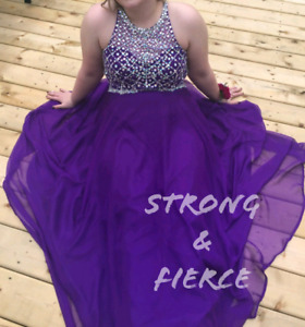Purple prom dress size 16