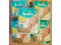 10 Packs of Pampers Size 1 2-5 kg 4-11lbs