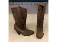 M&s size 5 suede brown boots