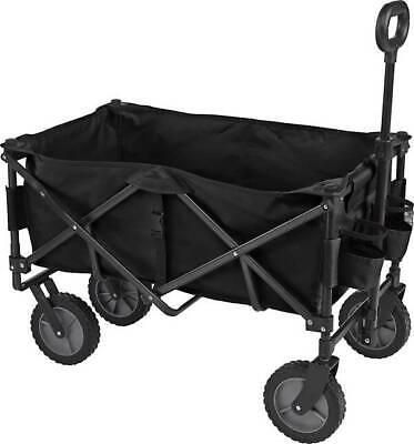 Collapsible Wagon Sports Folding Utility Cart Basket 7 Wheels 225lb
