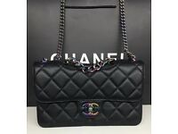 Must go today! Chanel leather bag boxed AAA