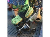 Mothercare Spin Pram and Pushchair - Olive Green. £50 o.n.o
