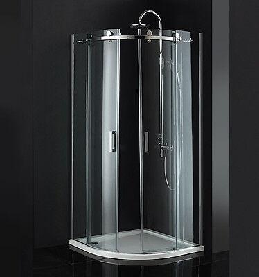 Duschkabine Duschabtrennung Pendeltür Gleittür o.Duschtasse ESG Glas MSSF409O