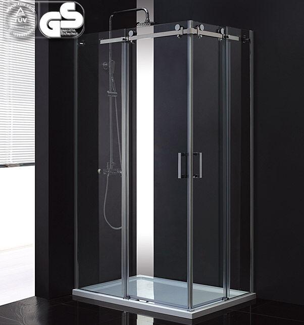 Eck Dusch kabine Dusche Duschabtrennung Schiebetür mit Duschtasse 118 - 120 cm