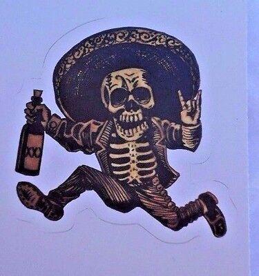 Dia De Los Muertos Day of the Dead Posada Sticker New Bandito Skeleton Outlaw