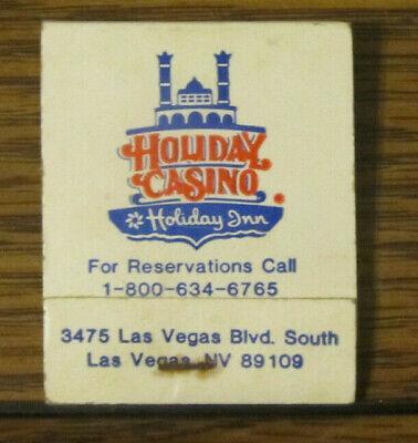 Vintage Las Vegas Nevada NV Holiday Inn Casino Matchbook Rear-Striker Matches