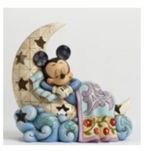 DISNEY Enesco Jim SHORE Sleep Tight Little One Mickey Mouse Night Light NEW!!