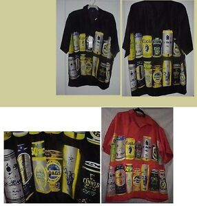 NEW-BEER-LOVERS-HAWAIIAN-SHIRT-IN-BLACK-RED-or-YELLOW-size-S-M-or-XL