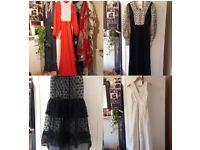 VINTAGE CLOTHING JOB LOT BULK BUY WHOLESALE 70s/80s DRESSES, TOPS, SKIRTS, TROUSERS