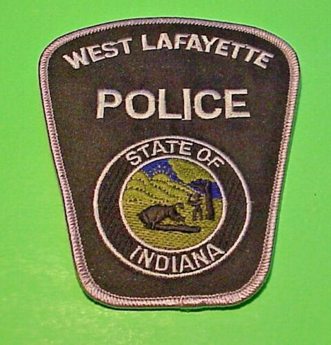 "WEST LAFAYETTE INDIANA  SUBDUED  5"" POLICE PATCH   FREE SHIPPING!!!"