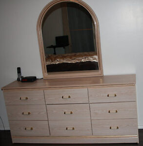 Dresser with Mirror and Nightstand for sale in Creston BC