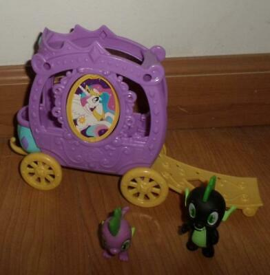 My Little Pony Train Car  w/ Spike the Dragon Figure Purple