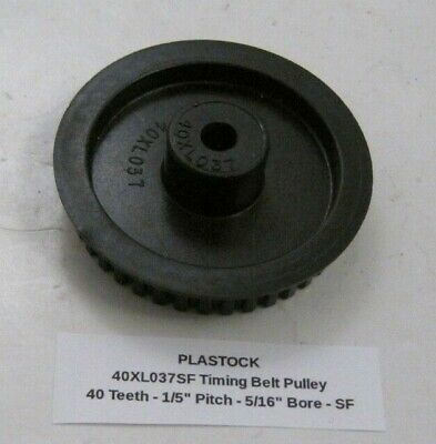 Plastock 40xl037sf Timing Belt Pulley - 40 Teeth - 15 Pitch - 516 Bore - Sf
