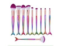 Exclusive sold out everywhere mermaid pro makeup brushes set of ten plus free pursesize brush OFFER