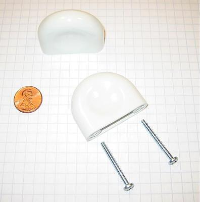 FORMS+SURFACES #HC140-WHITE NYLON CABINET/DRAWER PULL, 45mm WIDTH, 30mm CENTERS