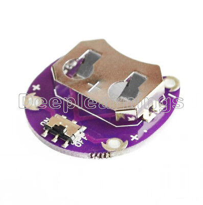 1 Pcs Cr2032 Coin Cell Battery Holder Module For Arduino Lilypad