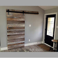 LOFT DOORS - custom sliding reclaimed wood doors